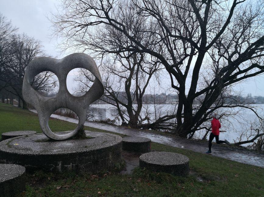 Corriendo por el lago Alster