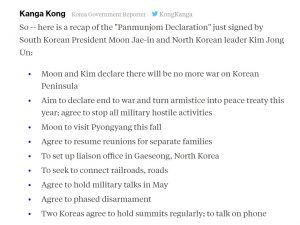 declaracion corea