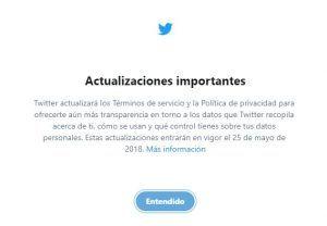 Twitter anuncia su adaptación al RGPD