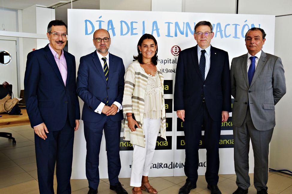 Luis Vicente Muñoz, José Manuel García Trany, Amalia Blanco, Ximo Puig y Salvador Navarro