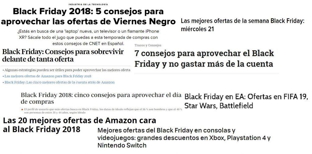 Titulares ofertas Black Friday