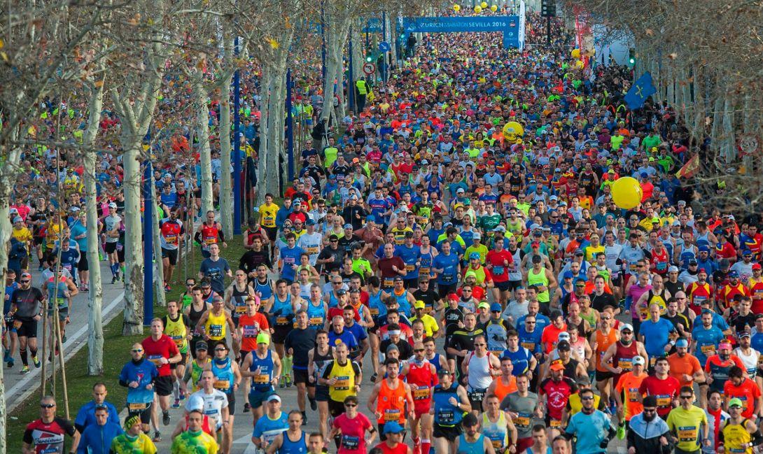 Maratón de Sevilla. Foto: Facebook Oficial de la Carrera
