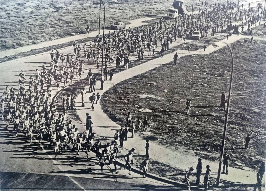 La Media Maratón de Moratalaz, en sus inicios. Fuente: Facebook de A. A. Moratalaz