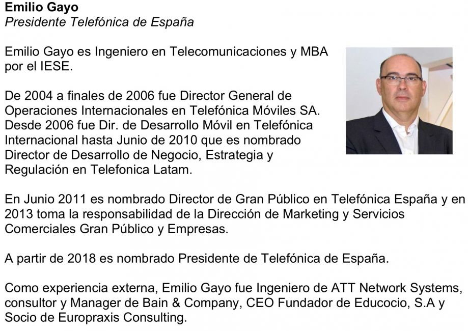 El nuevo presidente de Telefónica de España, Emilio Gayo